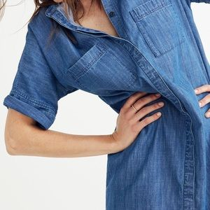 Madewell Drop Hem Denim Shirtdress, sz M